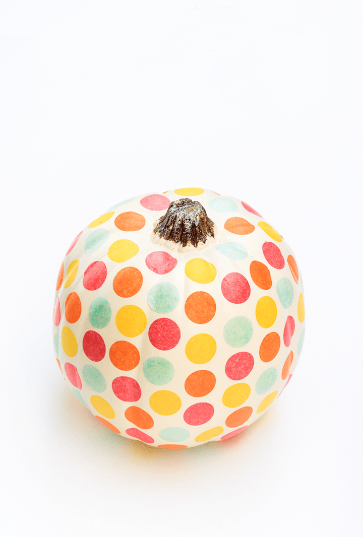 Loving these polka dots! Try this confetti pumpkin tutorial from The Crafted Life.