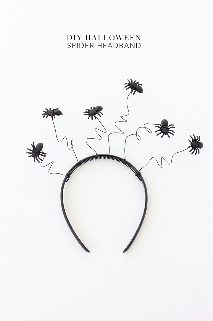 Make this easy halloween spider headband for you or your kiddos for Halloween night.