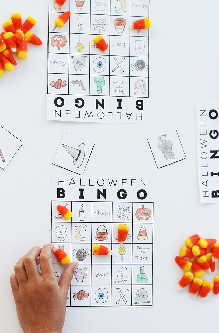 Print out this free download of Halloween bingo