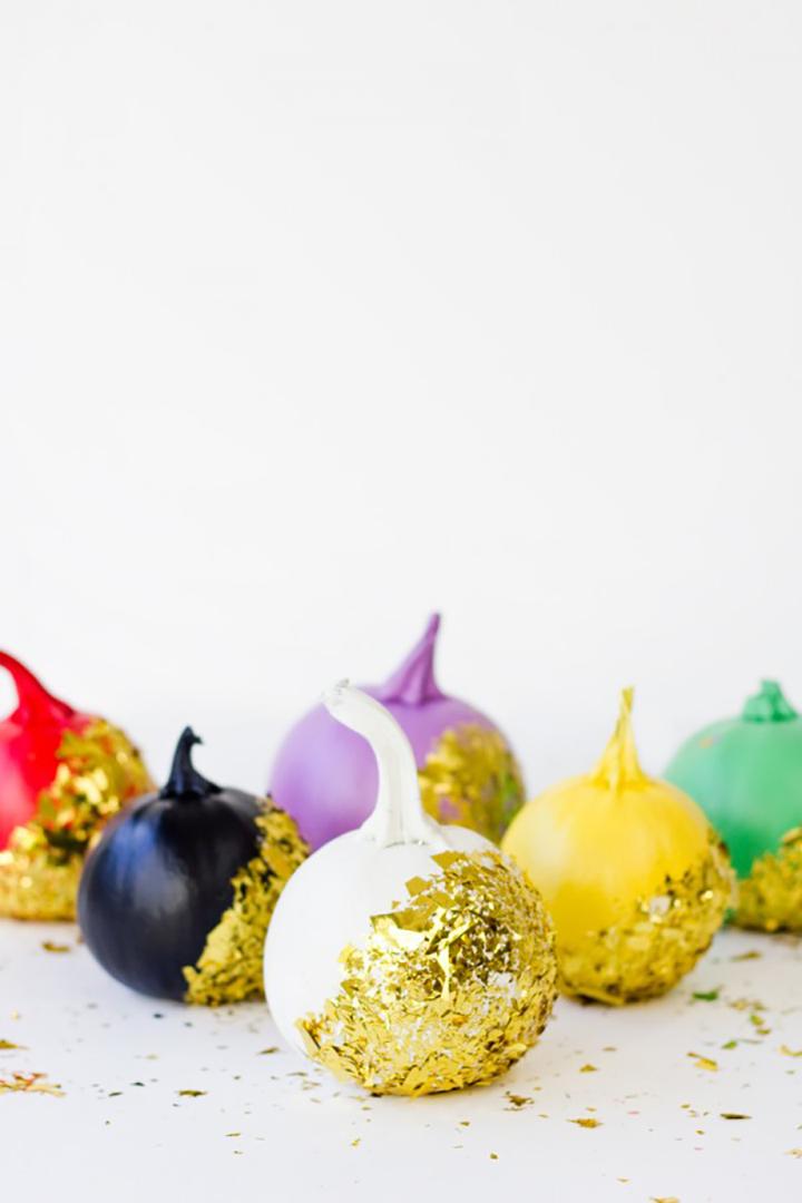 Fancy Gold Confetti Pumpkin DIY Tutorial from Studio DIY