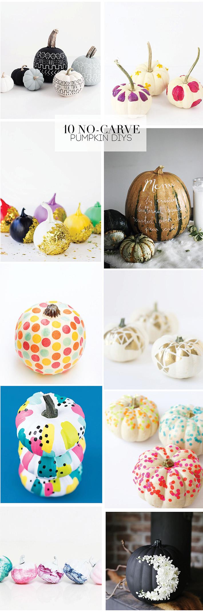 Favorite No Carve Pumpkin DIY ideas for Halloween