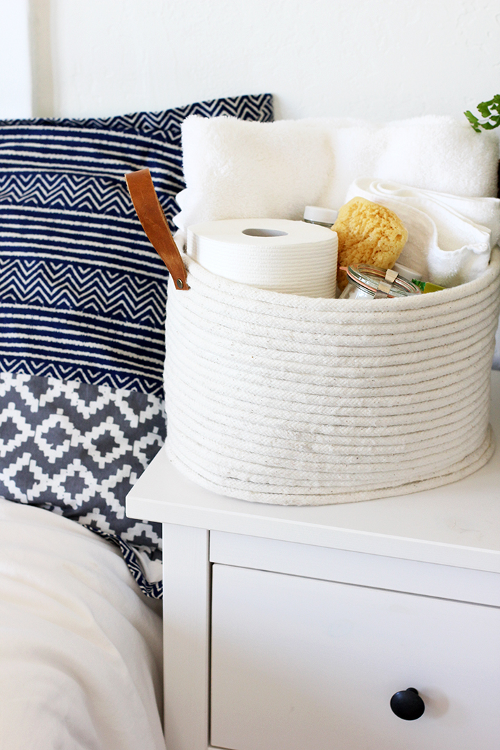 DIY Guest Room Basket | alice & lois