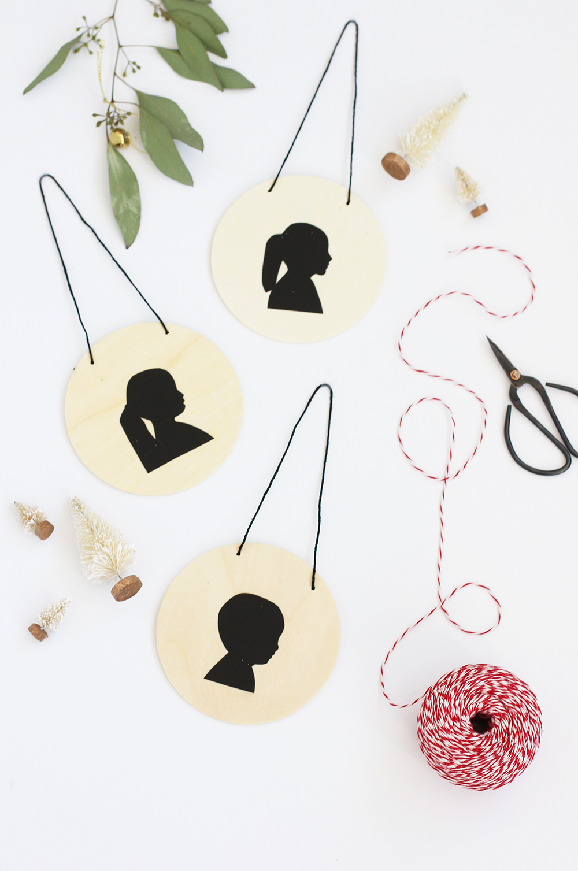 DIY Silhouette Ornament | alice & lois