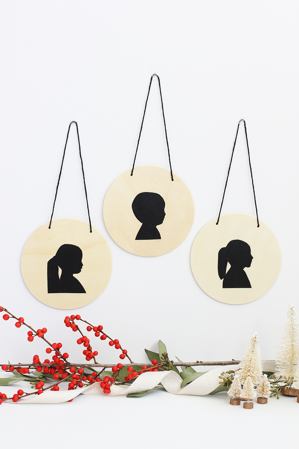 DIY Silhouette Ornament | alice & lois
