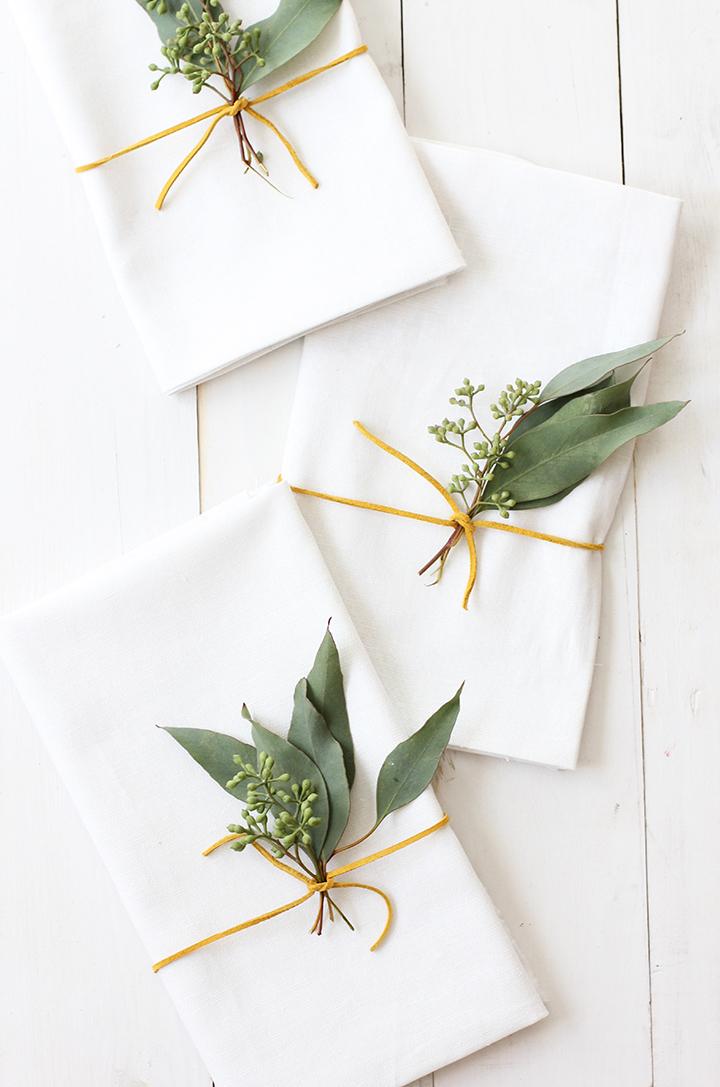 Eucalyptus Thanksgiving Placesetting \ alice & lois