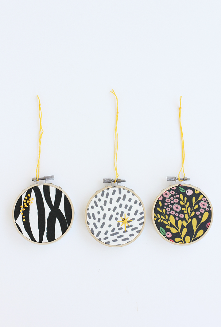 DIY Embroidery Hoop Fabric Ornament | alice & lois