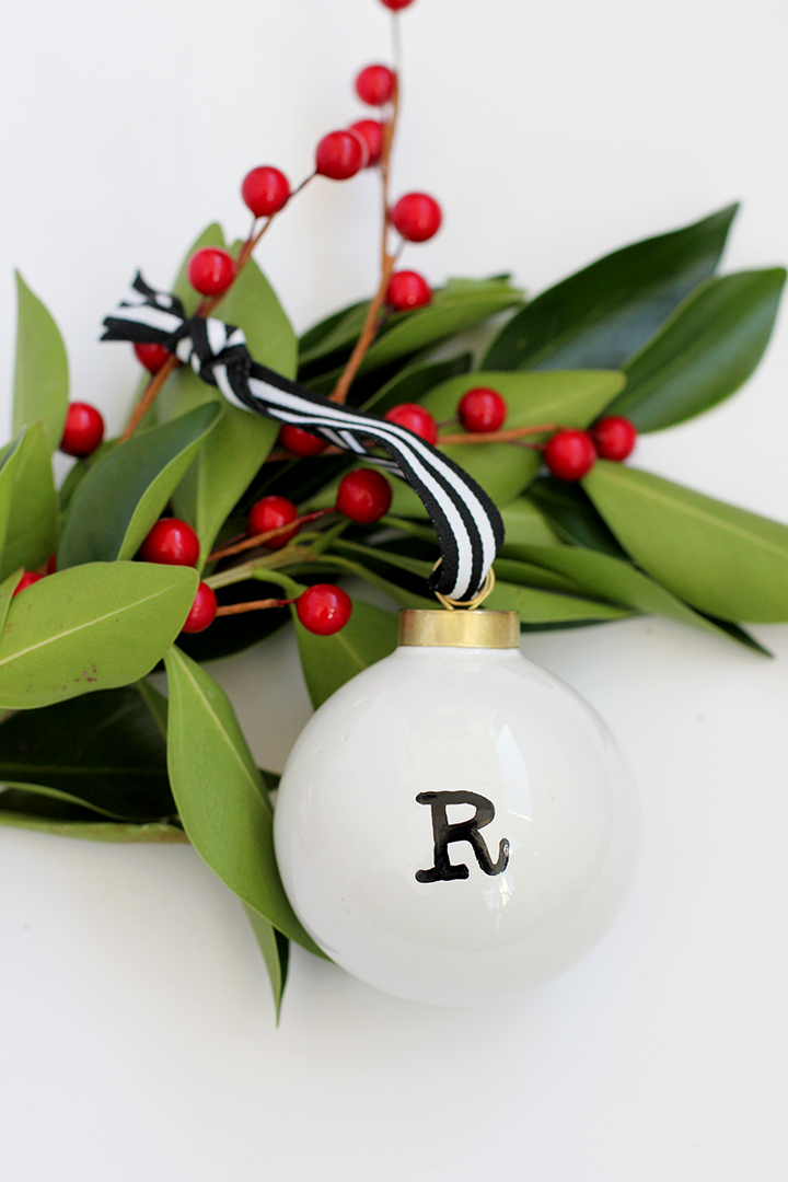 Make this sophisticated initial ornament in just a few minutes.
