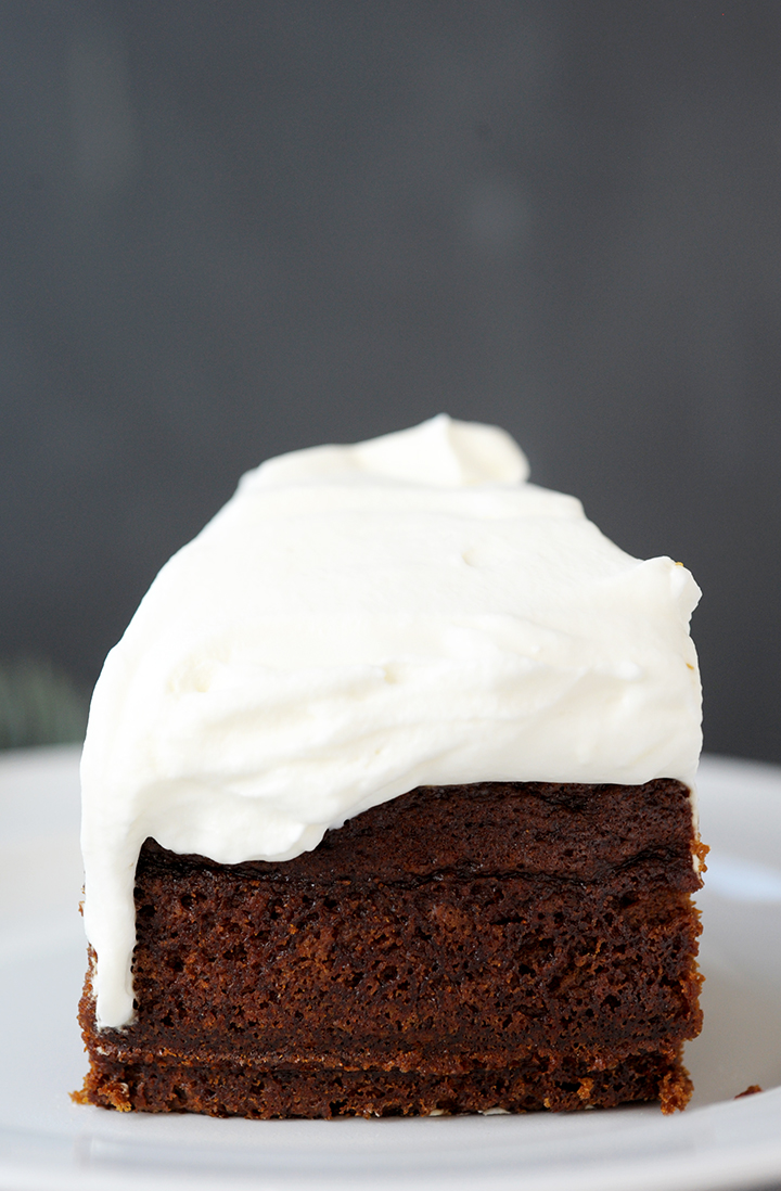 The Best Gingerbread Cake with Lemon Whipped Cream – so good for the holidays.
