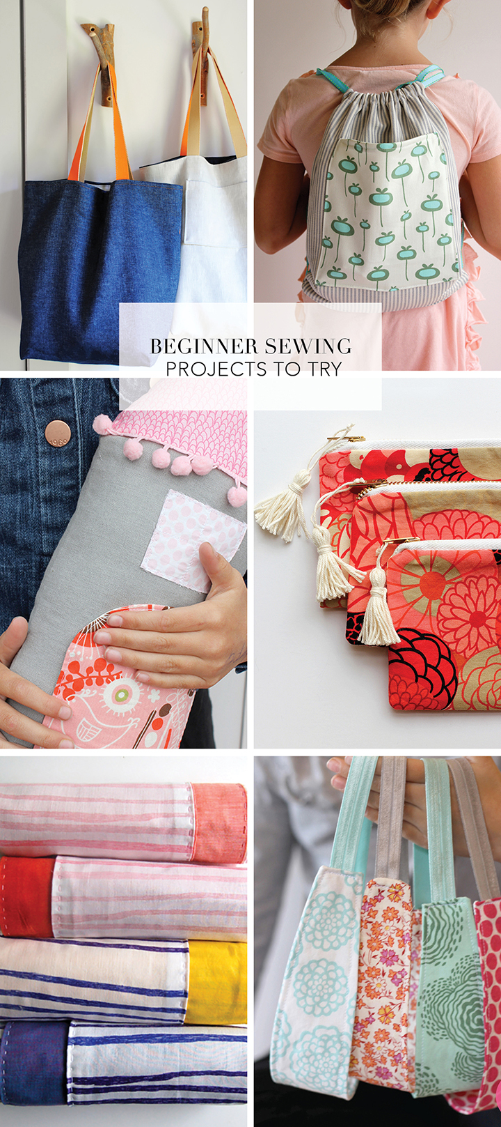 Try some of these favorite beginner sewing projects.