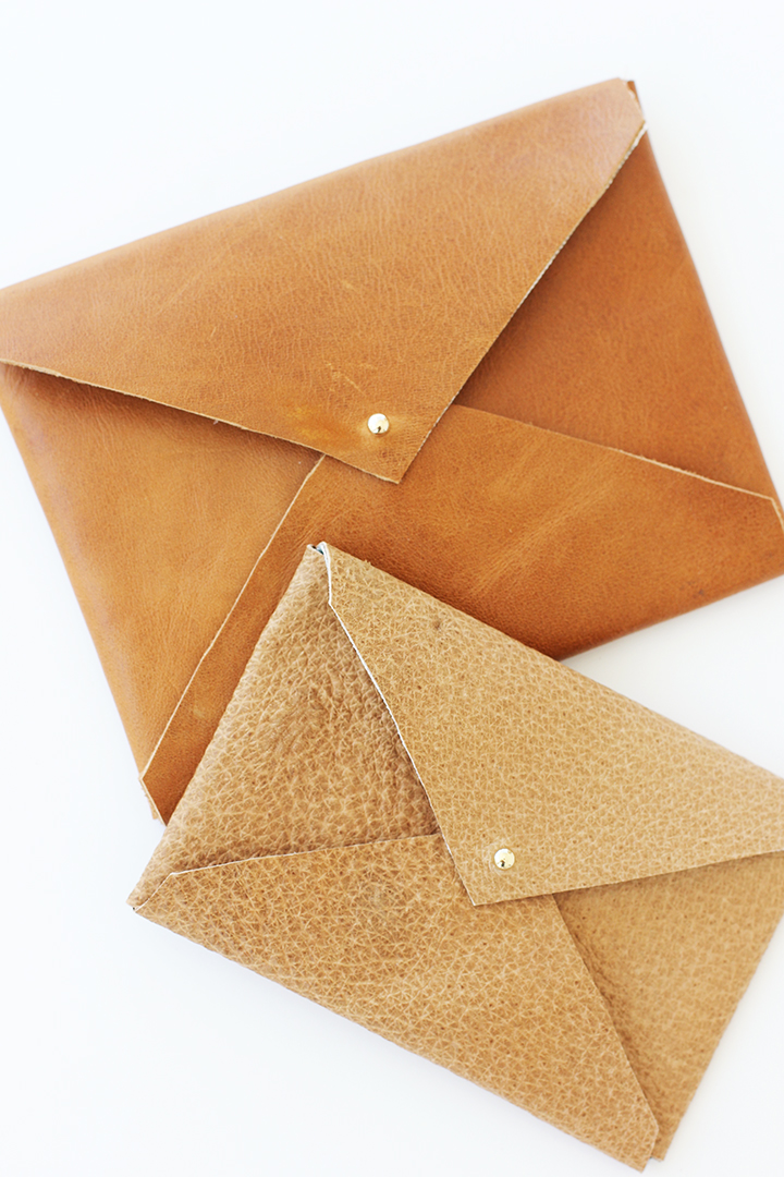 The perfect DIY gift – the Leather Envelope Clutch