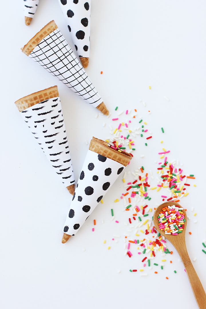 Celebrate in style with these Printable Ice Cream Cone Wrappers