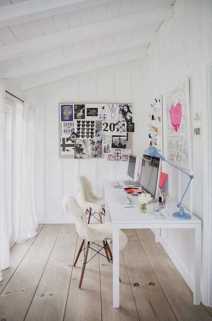 Home Crush Office Inspiration image via my scandinavian home