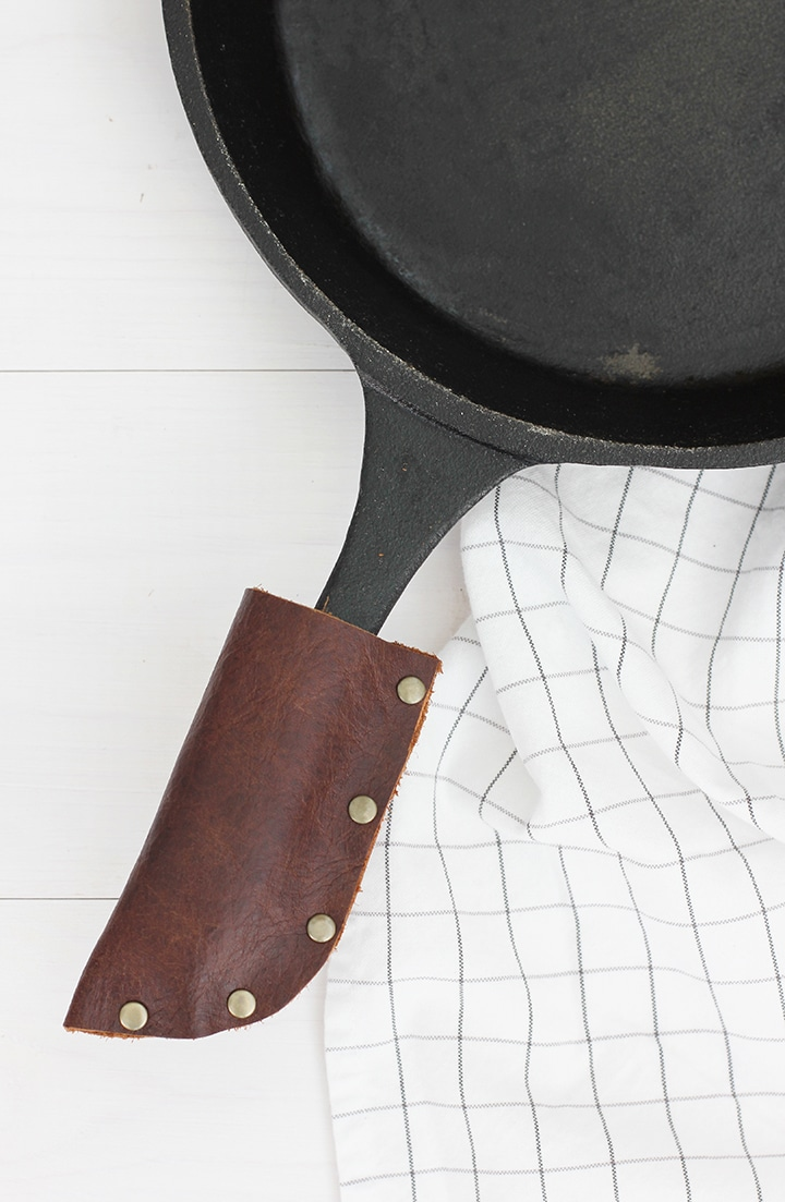 DIY Leather Cast Iron Grip | alice & lois