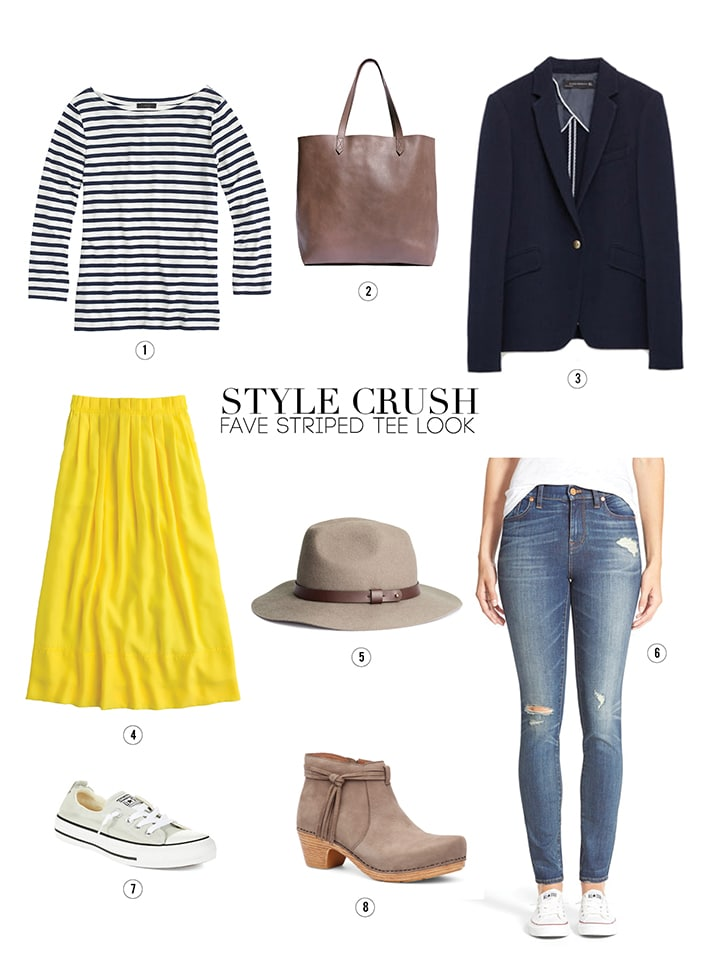 Style Crush - Fave Striped Tee Look