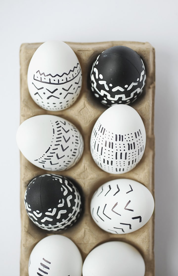 Looking for a new take on Easter eggs? Try this simple tutorial for DIY mud cloth Easter eggs!