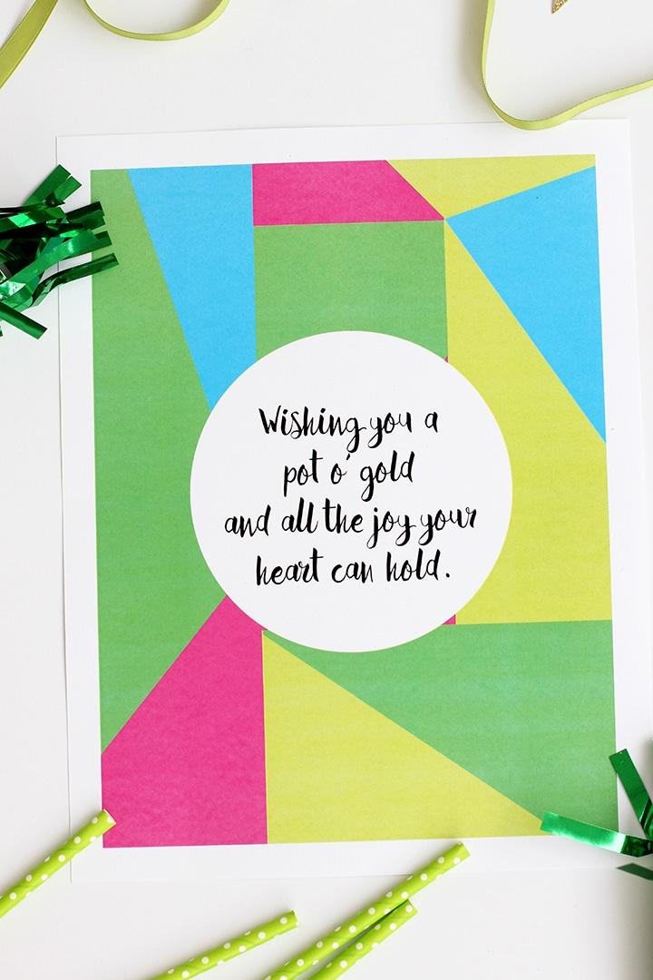 St Patrick's Day Free Printable   alice & lois