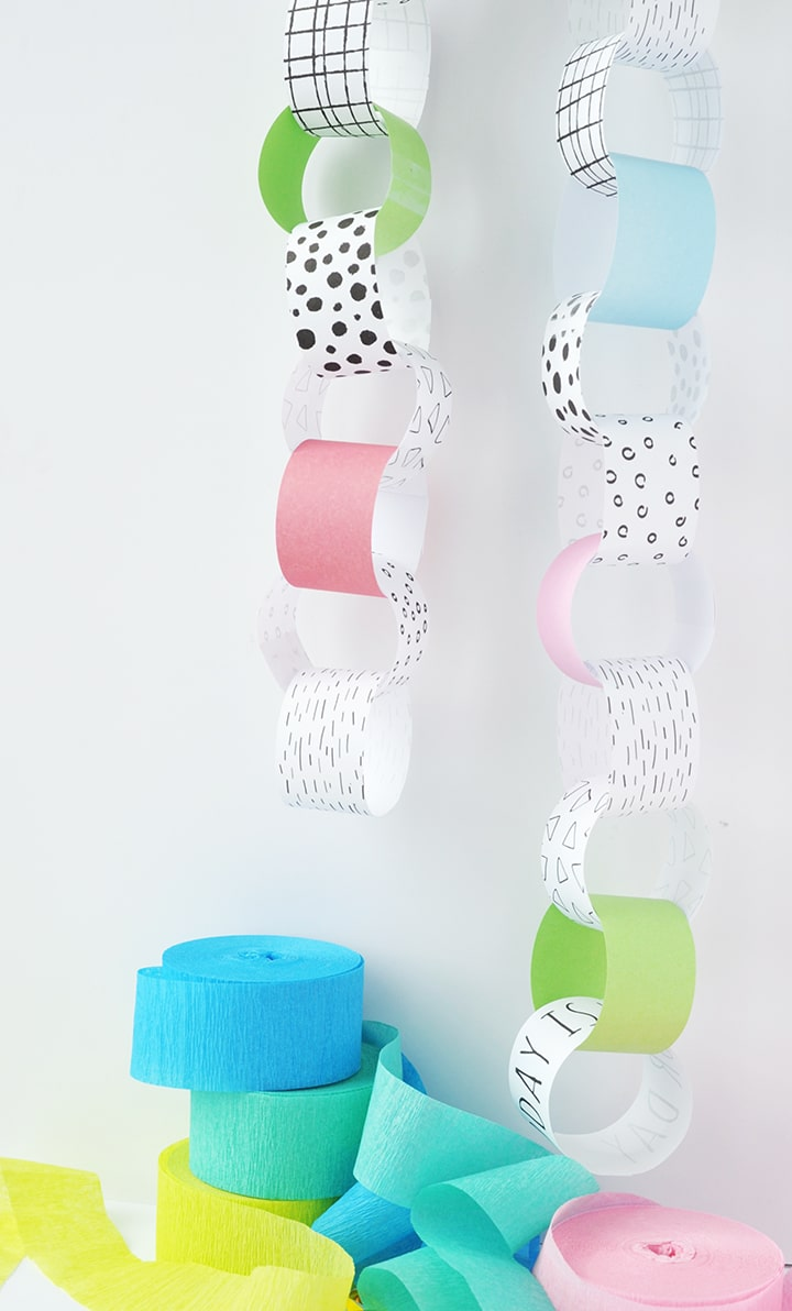 Celebrate the days leading up to a birthday with this DIY Birthday Countdown Paper Chain Free Printable!