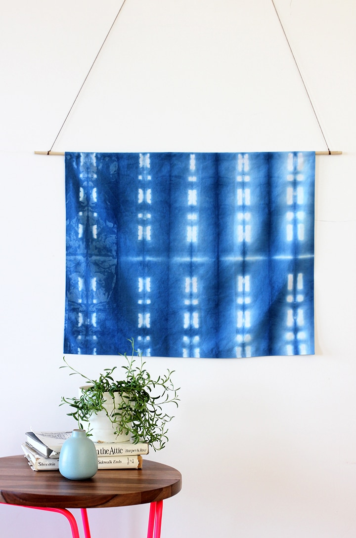 Try making this gorgeous DIY Shibori Wall Hanging