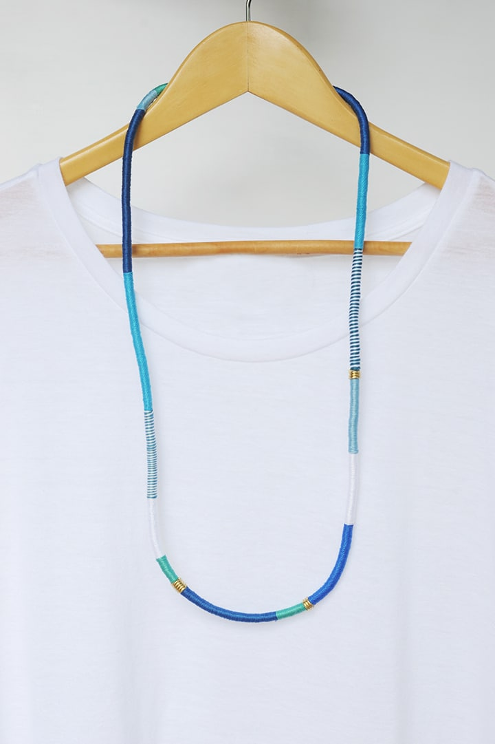 DIY Wrapped Rope Necklace