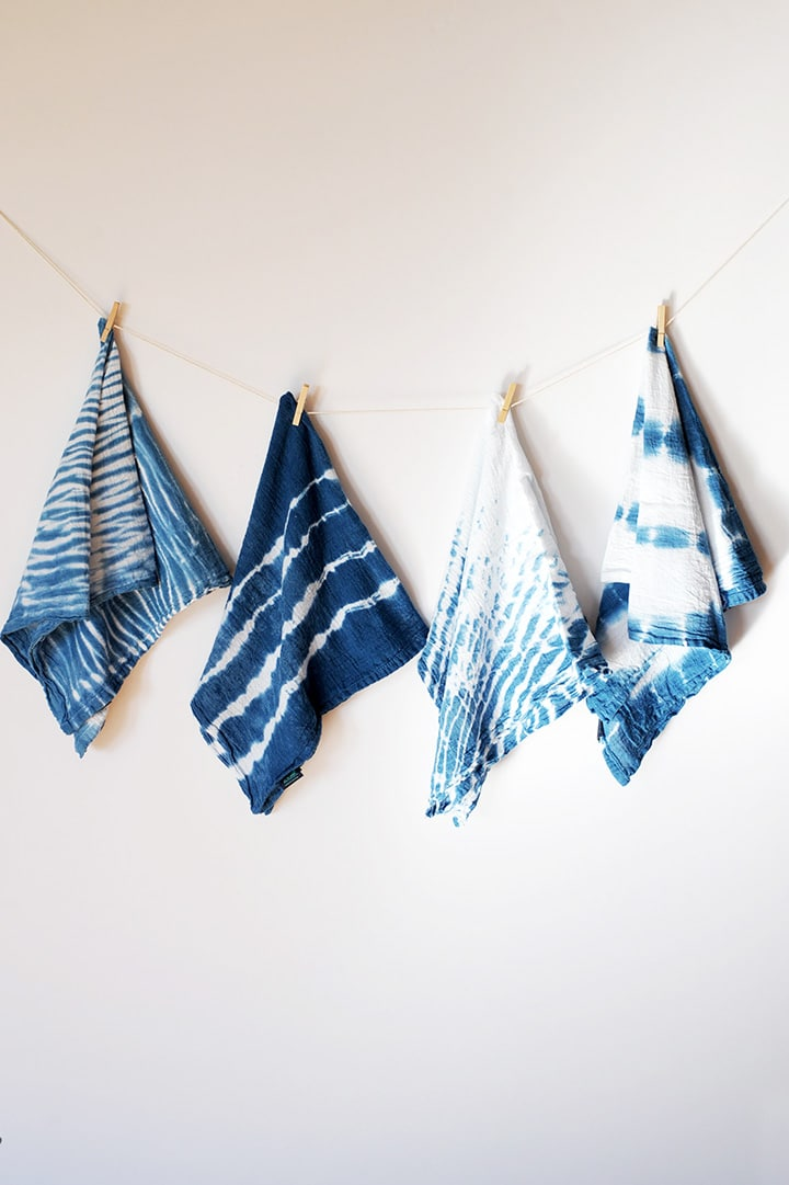 Favorite Shibori Indigo Dyeing Projects to try at home.