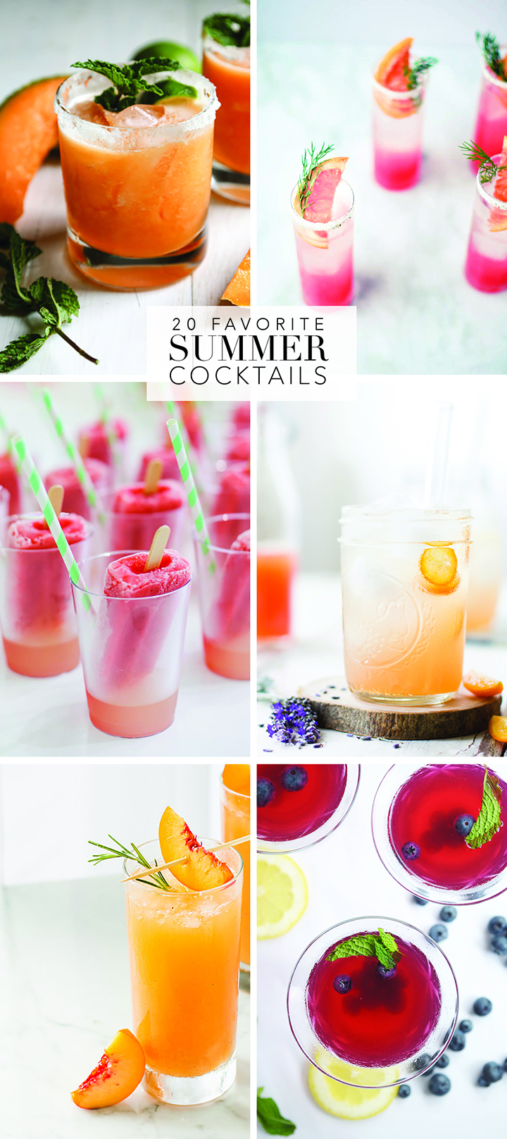 here's what you should be drinking this summer! 20 favorite summer cocktails.