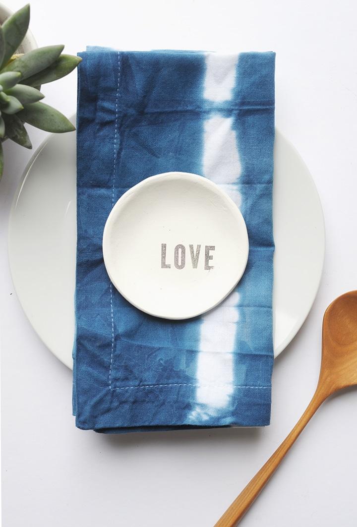 DIY Shibori Indigo Dish Towels Tutorial