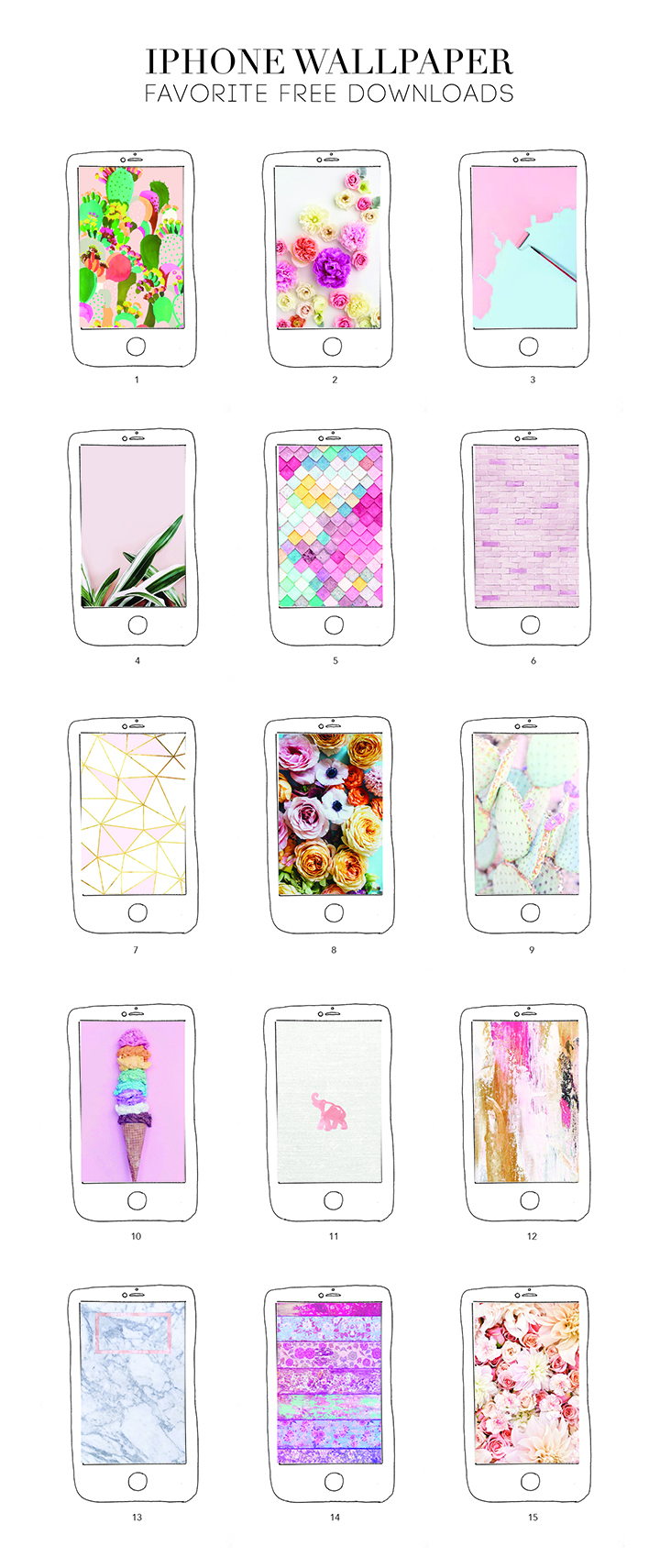 Our 15 Favorite iPhone Wallpaper Free Downloads – the pink edition!