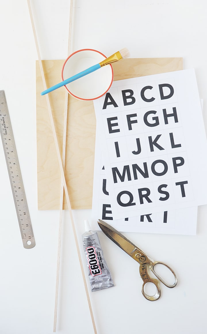 Make this simple and sophisticated DIY Modern Message Board!