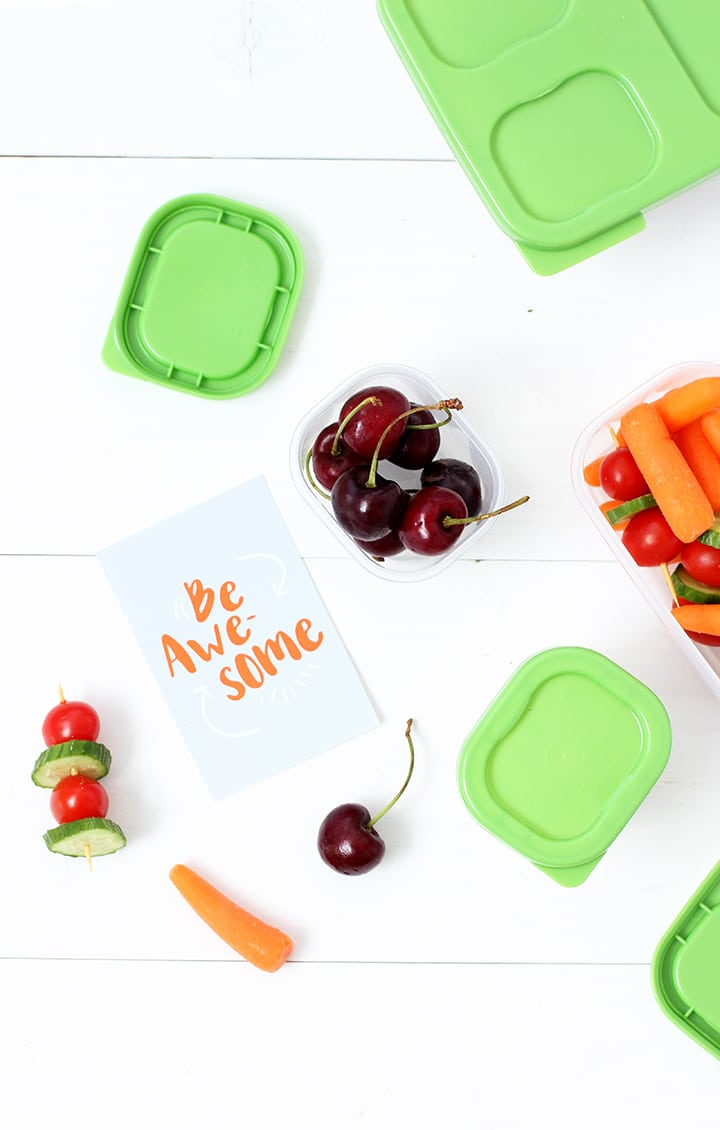 Back to School Healthy Lunch Ideas and Free Printable Lunchbox Notes