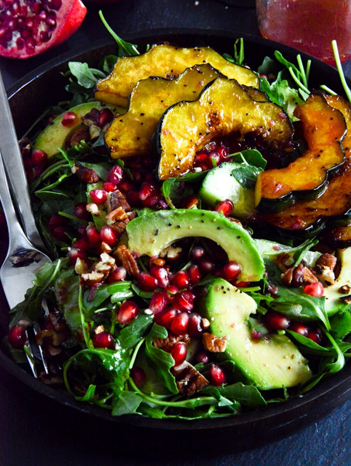 The best salads to try for fall like this autumn arugula salad.
