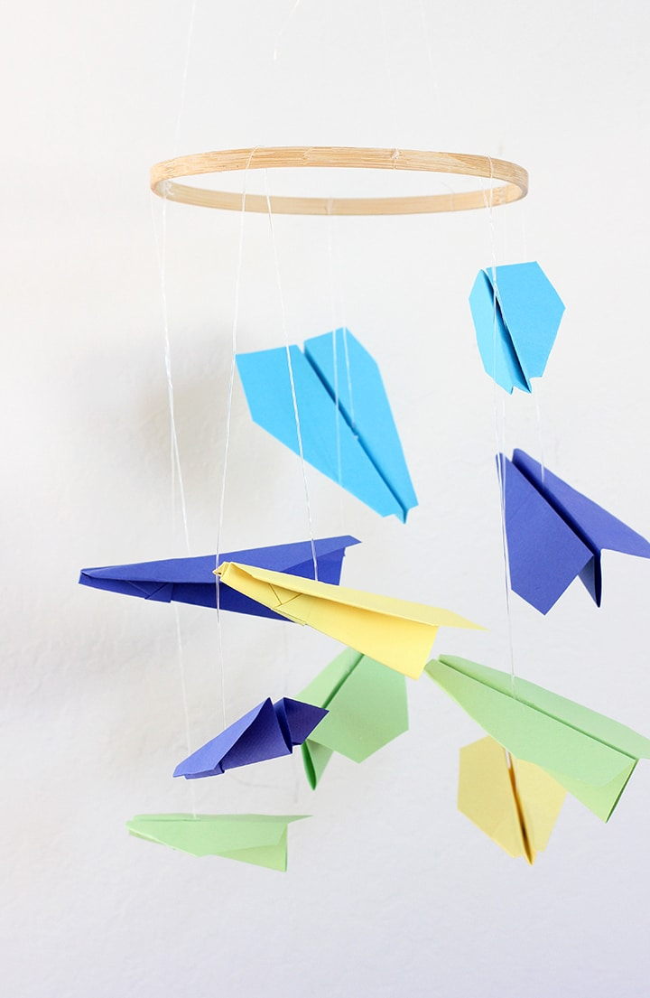 DIY Paper Airplane Kids Room Decor