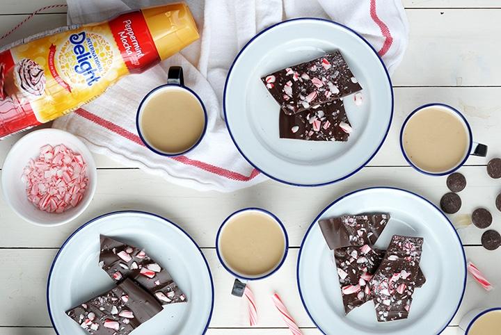 Our favorite holiday dessert – Dark Chocolate Peppermint Bark!