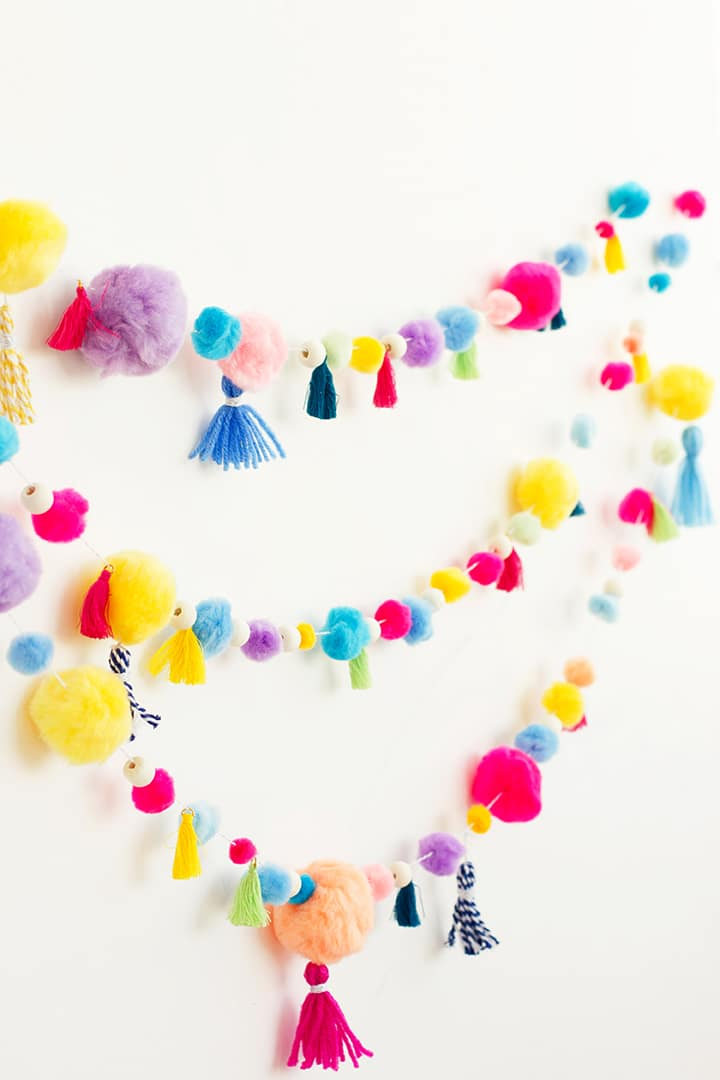 Alice and LoisDIY Pom Pom Tassel Garland  Alice and Lois