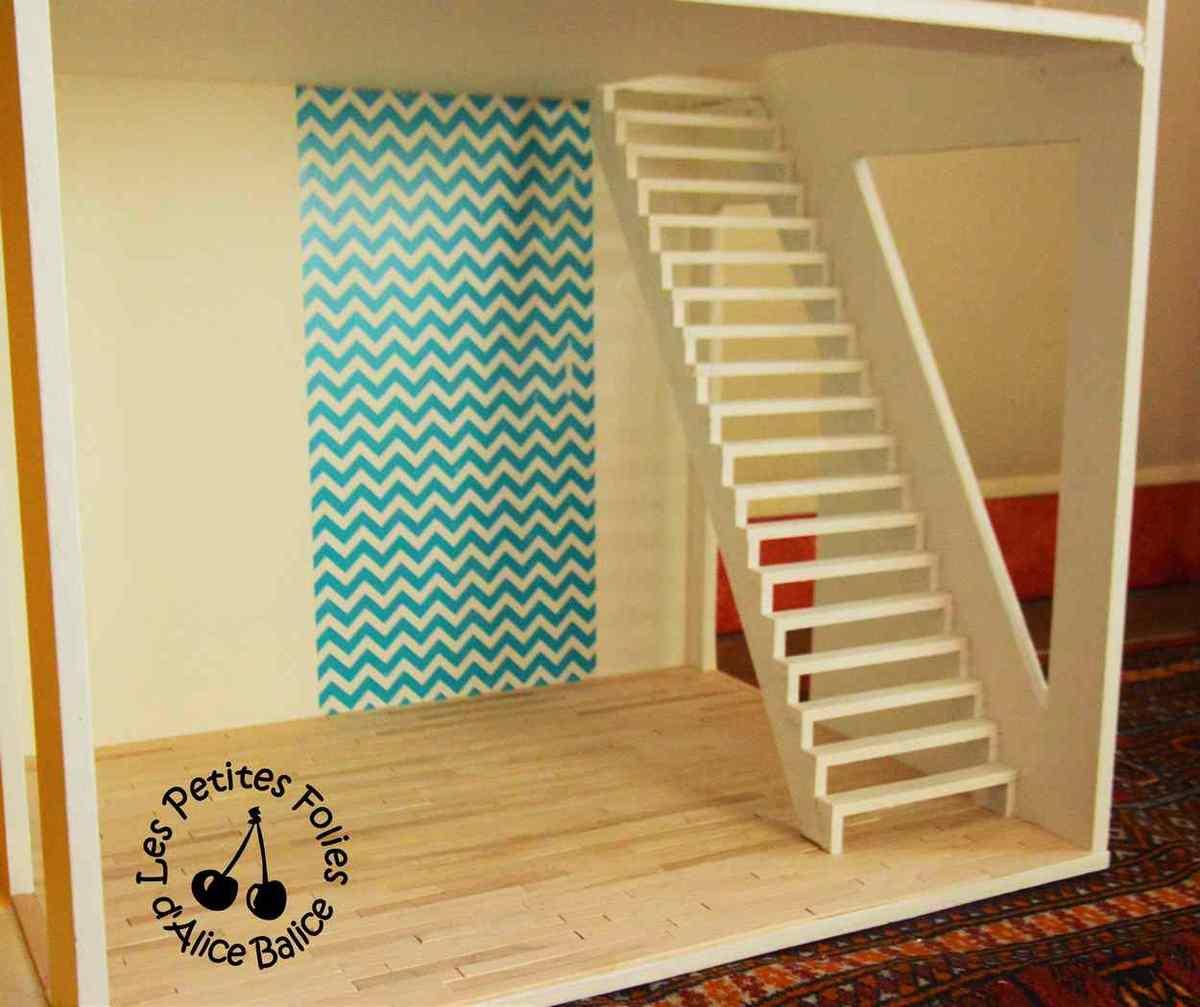 Maison De Barbie 4 Fin De La Dcoration Et Escalier