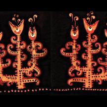 """""""Le chant des plantes"""", batik sur coton, Alice Heit 2002."""