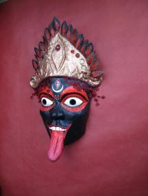 """""""Kali la noire"""", masque en papier. Alice Heit 2015"""