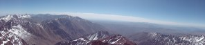 view from mount toubkal