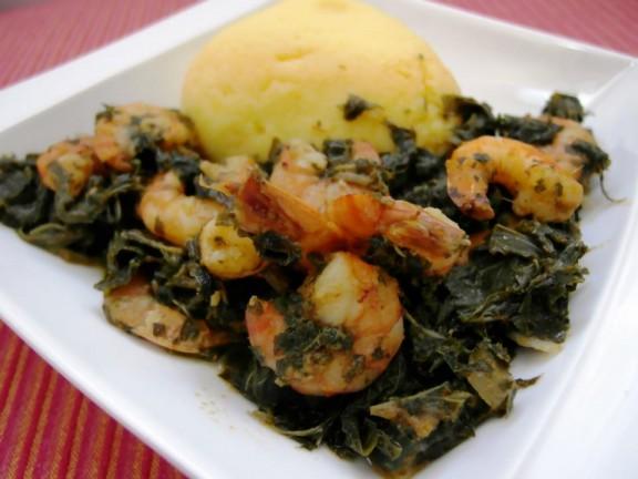 Folong aux crevettes (Amarantes aux crevettes)