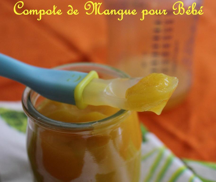 Compote de mangue pour Bébé