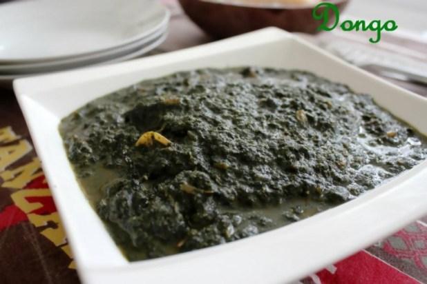 Dongo (kelenkelen feuilles de manioc)