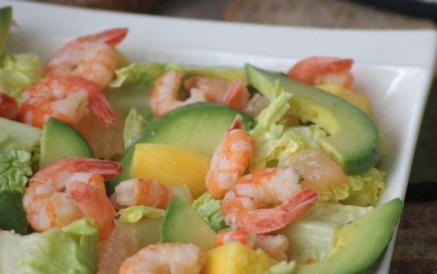 salade de crevettes à la mangue et pamplemousse (7)