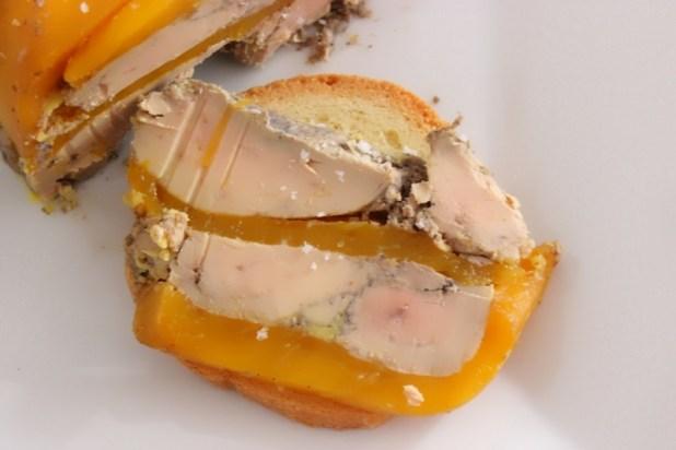 terrine de foie gras à la mangue
