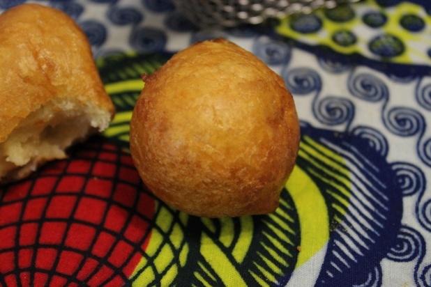 beignets au cidre et mangue