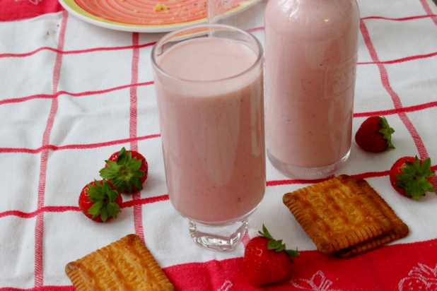 milkshake fraises et vanille