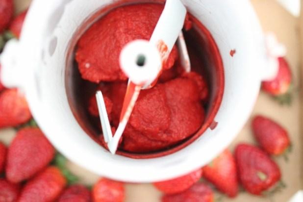 sorbet aux fraises