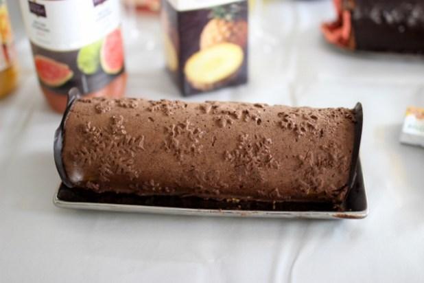 bûche chocolat mangue