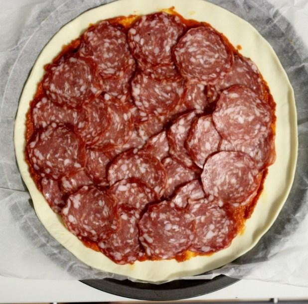 pizza soleil au sucisson