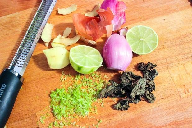 Papillotes Ndomba de bar-au-gingembre et au citron vert