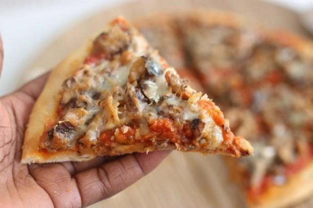 pizza à la sardine et gingembre