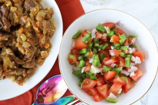 seletha ( salade de tomate éthiopien)